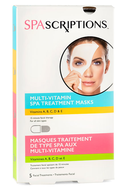 Spascriptions Multi-Vitamin Spa Treatment Masks (5 Ct)