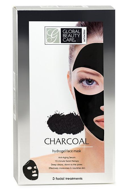 Global Beauty Care Premium Charcoal Hydrogel Face Mask (3 Ct)