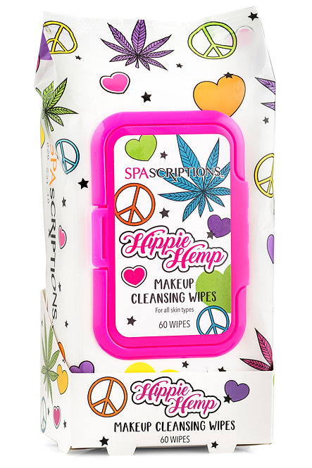 Spascriptions Hippie Hemp Makeup Cleansing Wipes (60 Ct)