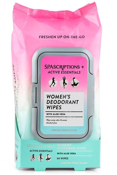 Spascriptions Active Essentials Women's Deodorant Wipes