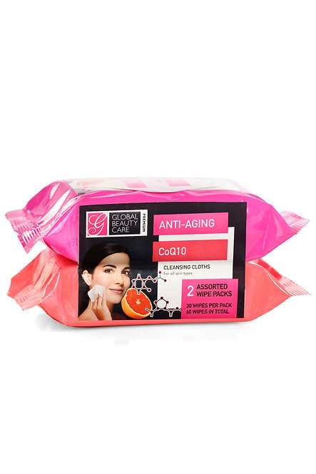 Global Beauty Care Premium Makeup Cleansing Wipes (60 Ct)