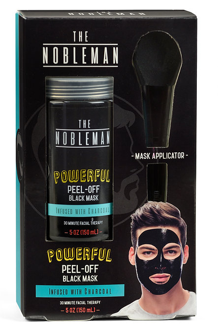 The Nobleman Black Facial Peel-Off Mask with Applicator (5 Oz)
