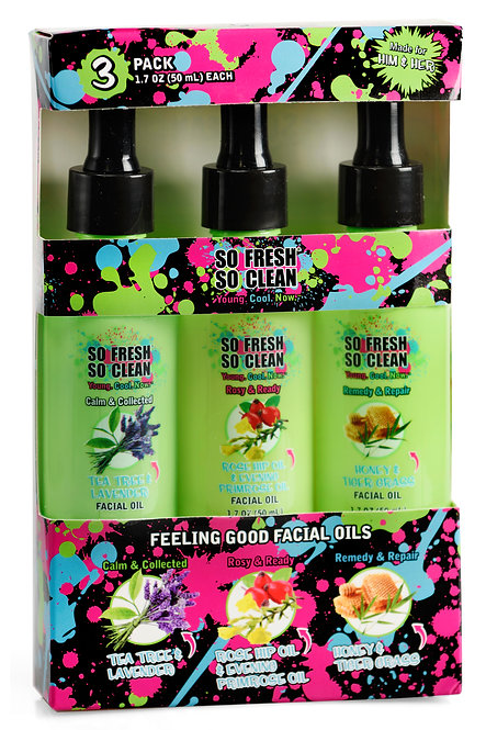 So Fresh So Clean Feeling Good Facial Oils (1.7 Oz x 3)