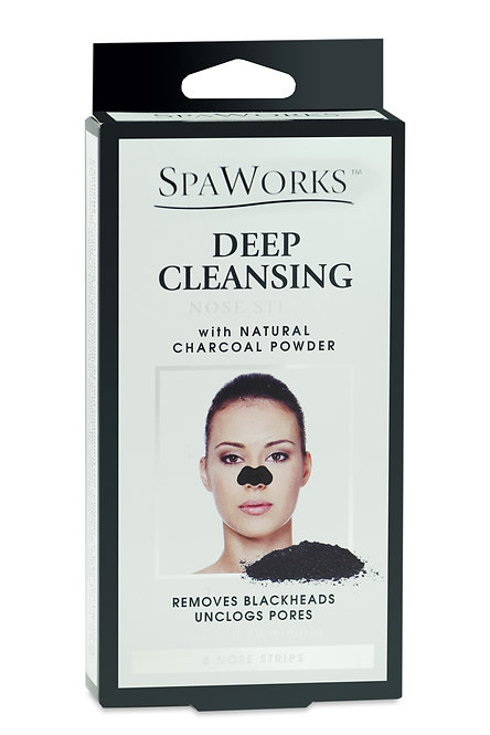 Spa Works Charcoal Cleansing Nose Strips (8 Ct)