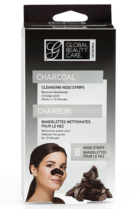 Global Beauty Care Premium Charcoal Cleansing Nose Strips (8 Ct)