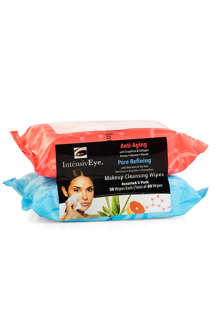 IntensivEye Assorted Makeup Cleansing Wipes 2-Pack (60 Ct)