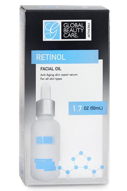 Global Beauty Care Premium Facial Oil with Retinol (1.7 Oz)