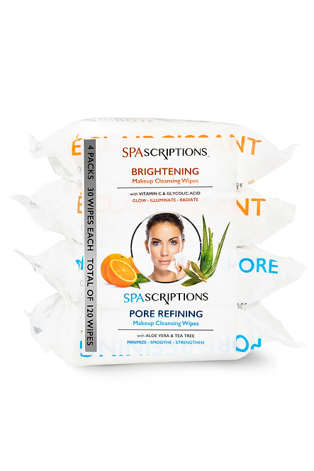 Spascriptions 4-Pack Makeup Cleansing Wipes (120 Ct)