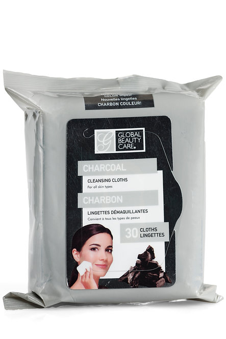 Global Beauty Care Charcoal Makeup Cleansing Wipes (30 Ct)