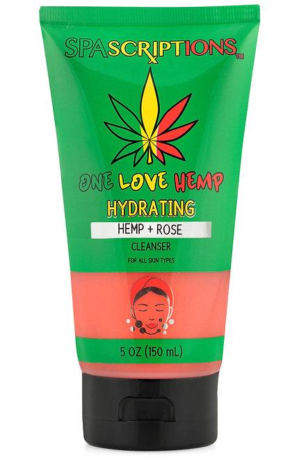 Spascriptions Hemp & Rose Hydrating Facial Cleanser (5 Oz)