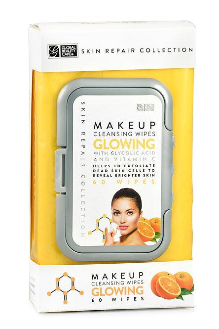 Global Beauty Care Skin Repair Glowing Makeup Cleansing Wipes (60 Ct)