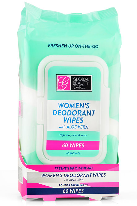 Global Beauty Care Women's Deodorant Wipes (Varying Counts)