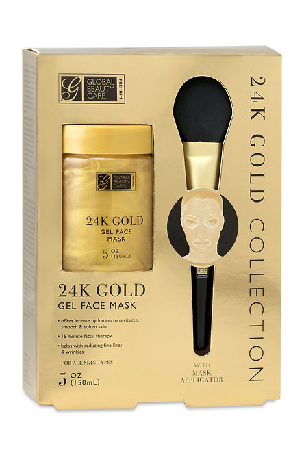 Global Beauty Care Premium Gold/Charcoal Gel Masks with Applicator (5 Oz)