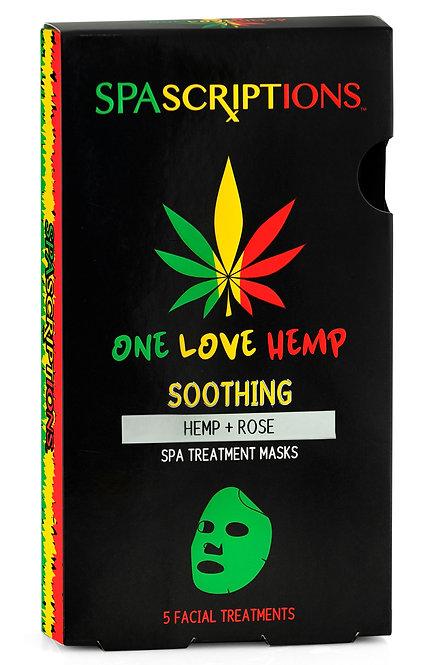Spascriptions One Love Hemp Spa Treatment Masks (5 Ct)