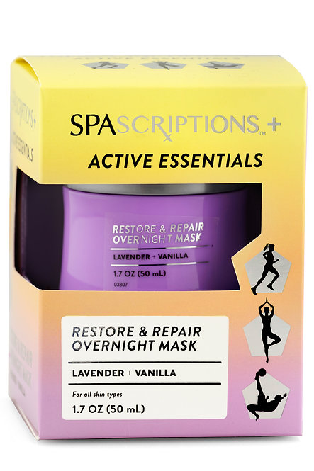 Spascriptions Active Essentials Lavender & Vanilla Overnight Mask (1.7 Oz)