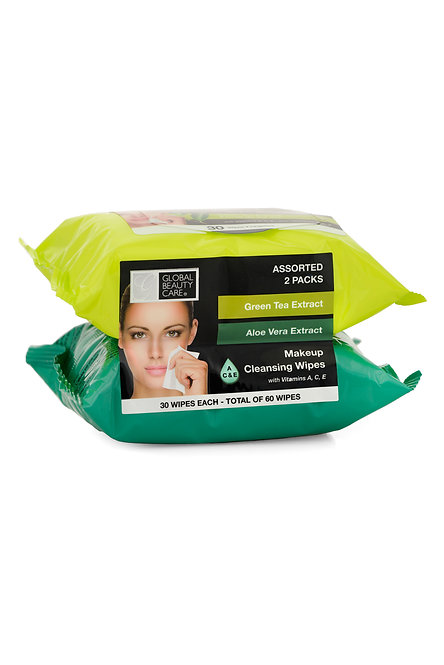 Global Beauty Care Makeup Cleansing Wipes (60 Ct)