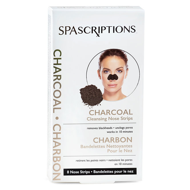 Spascriptions Charcoal Cleansing Nose Strips (8 Ct)