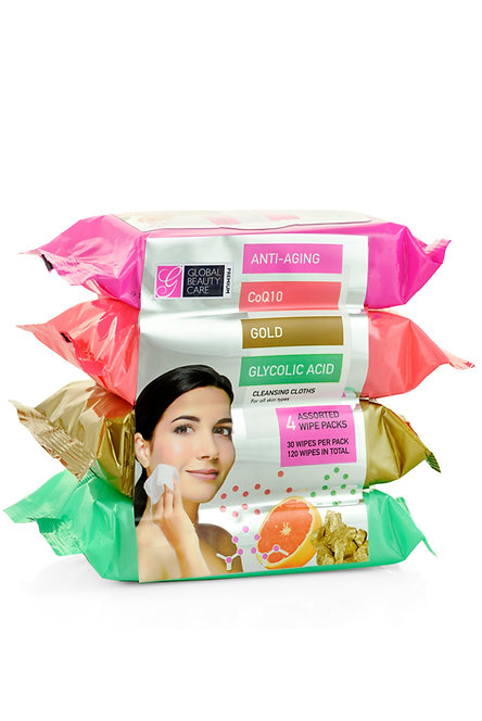 Global Beauty Care Premium Makeup Cleansing Wipes (120 Ct)