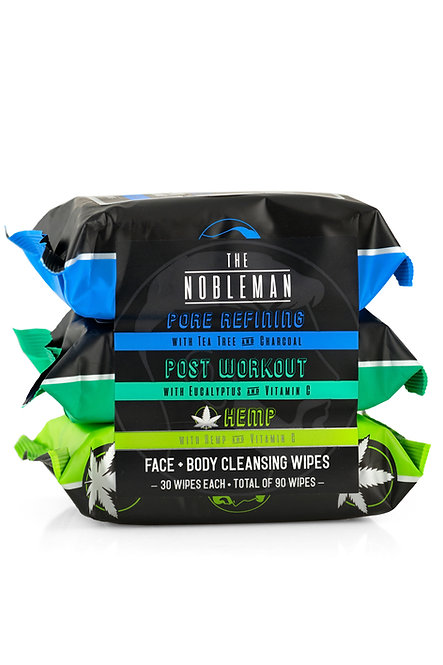 The Nobleman Cooling & Cleansing Face & Body Wipes (90 Ct)