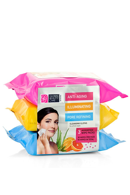 Global Beauty Care Premium Makeup Cleansing Wipes (90 Ct)