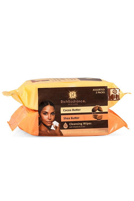 Rich Radiance Cocoa & Shea Butter Makeup Cleansing Wipes 2-Pack (60 Ct)