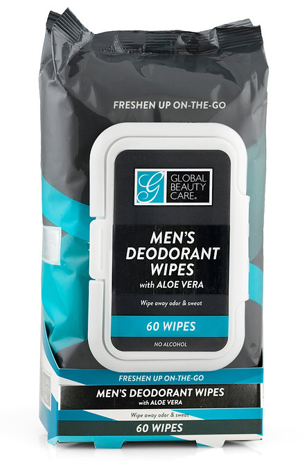 Global Beauty Care Men's Deodorant Wipes (Varying Counts)