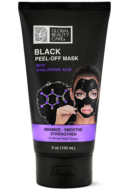 Global Beauty Care Black Peel-Off Mask with Hyaluronic Acid (5 Oz)
