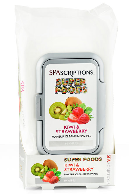 Spascriptions Superfoods Makeup Cleansing Wipes (60 Ct)