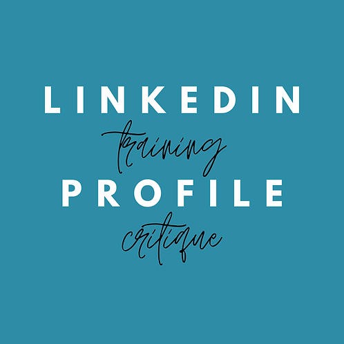 Linkedin Training for Job Seekers & Profile Critque
