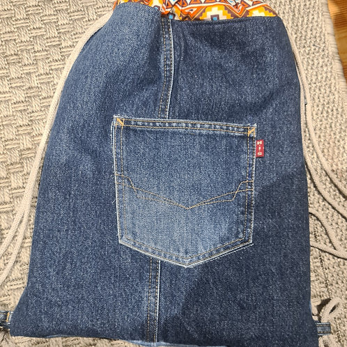 Rucksack Jeans upcycling