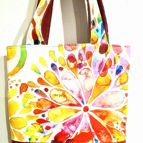 Tasche Batikblumen