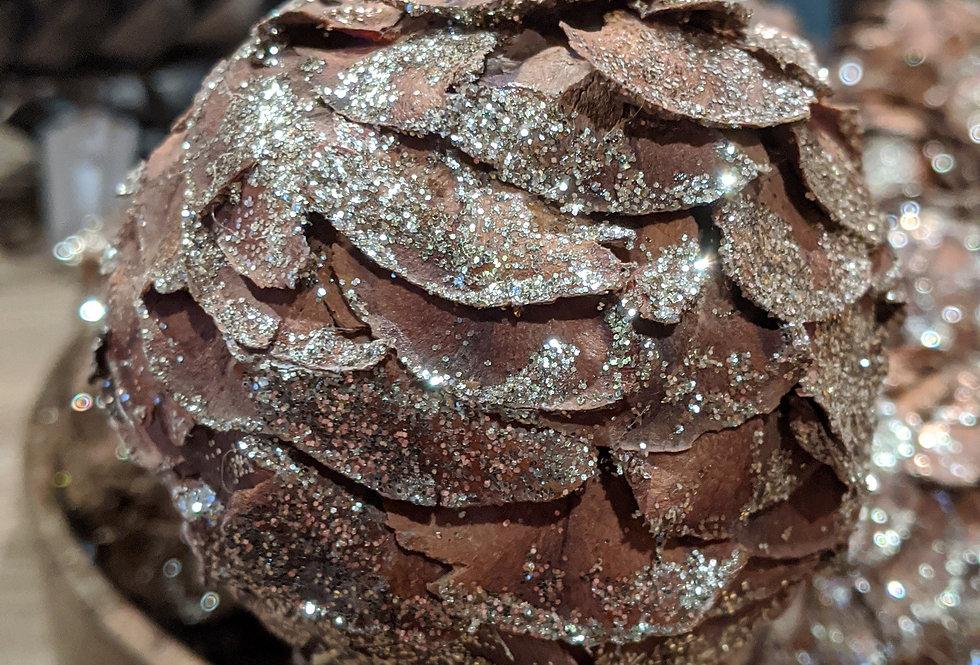 Pine Cone With Glitter
