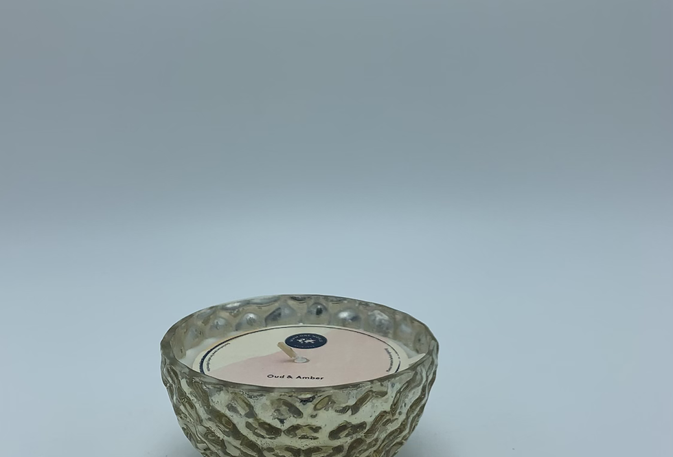 Oud & Amber Gold Candle Small