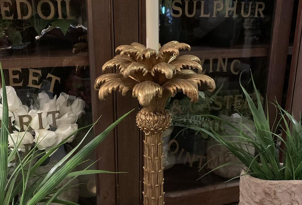 Palm Tree Candle Holder Large