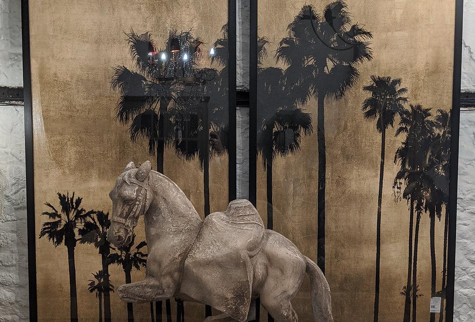 Tall Palm Tree Wall Art Pair