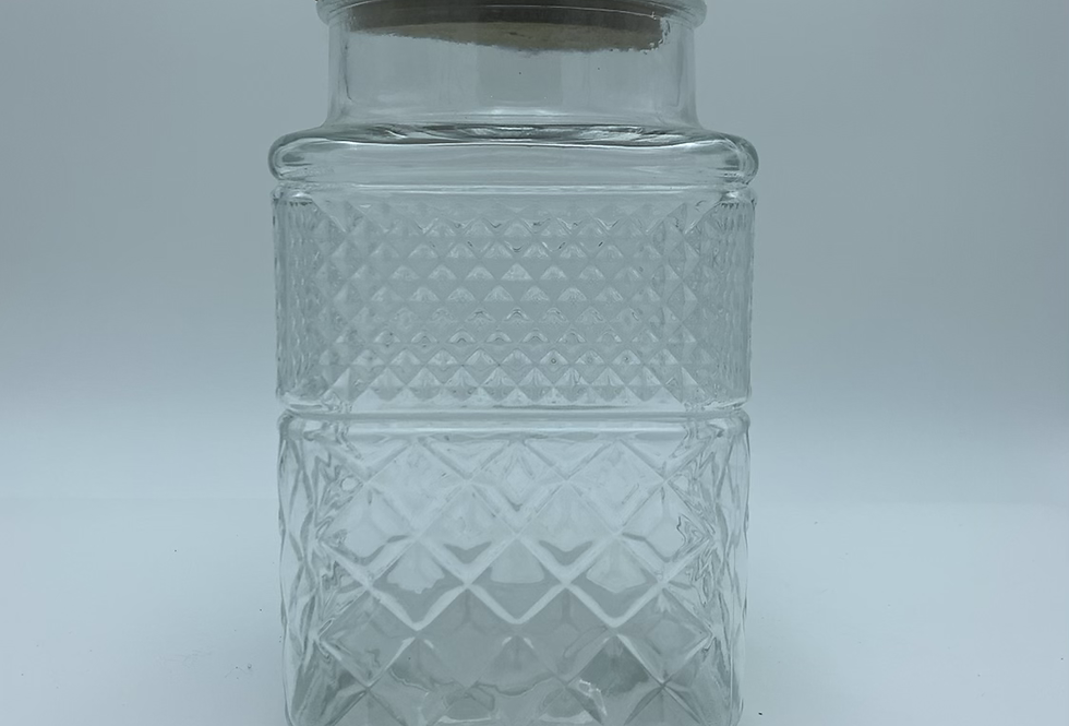 Jar With Wood Lid (Large)