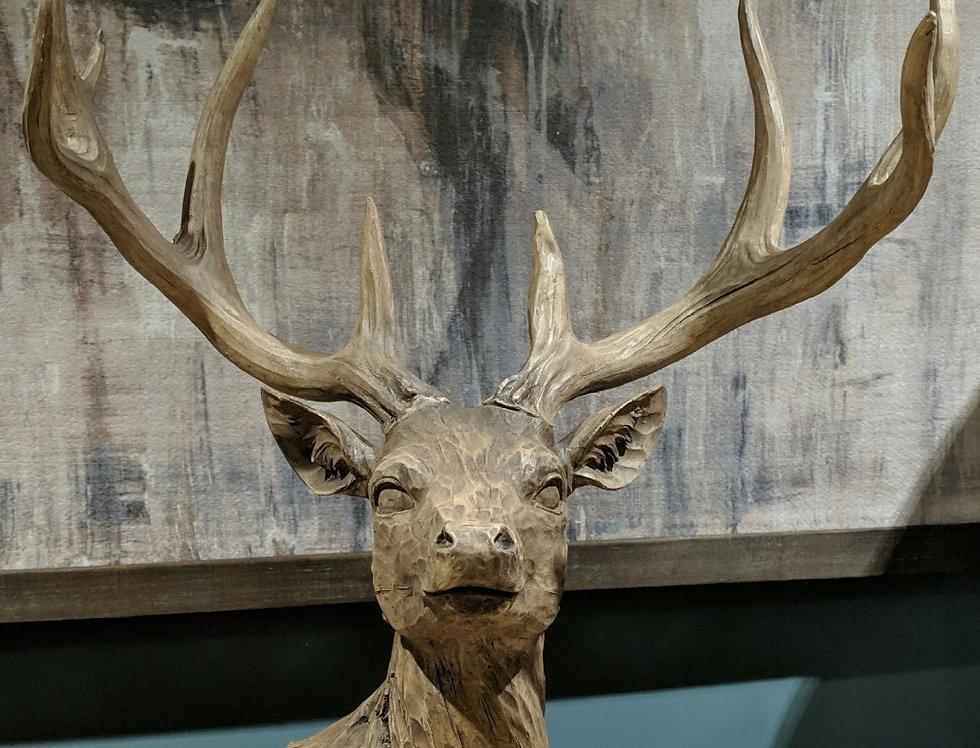 Wood Effect Deer Head