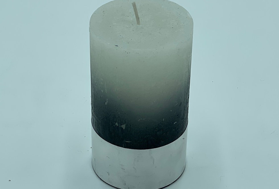 Ombre Candle Green/White