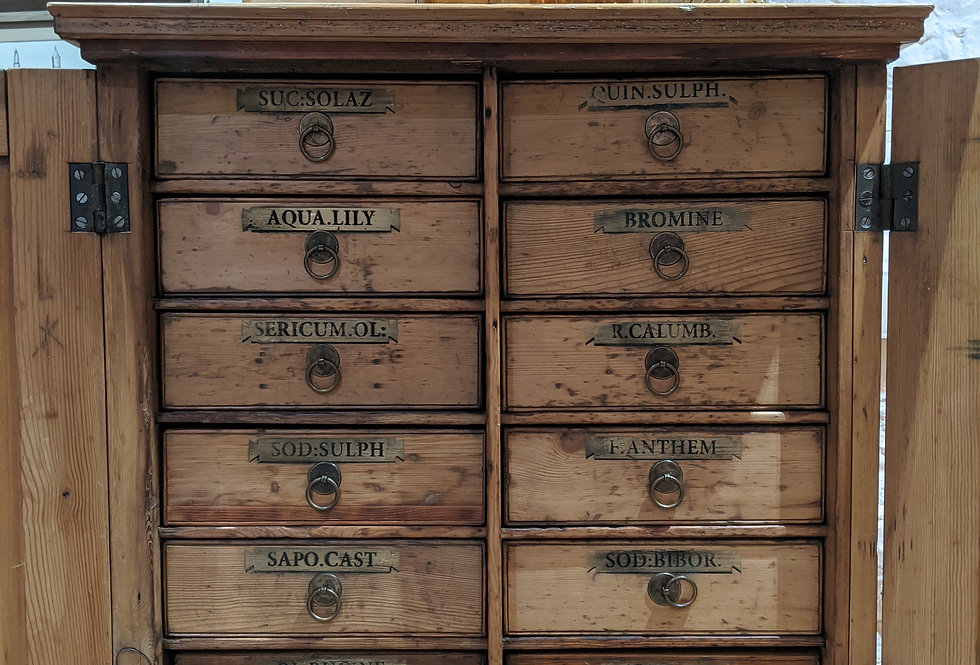 Pine Apothecary Cabinet