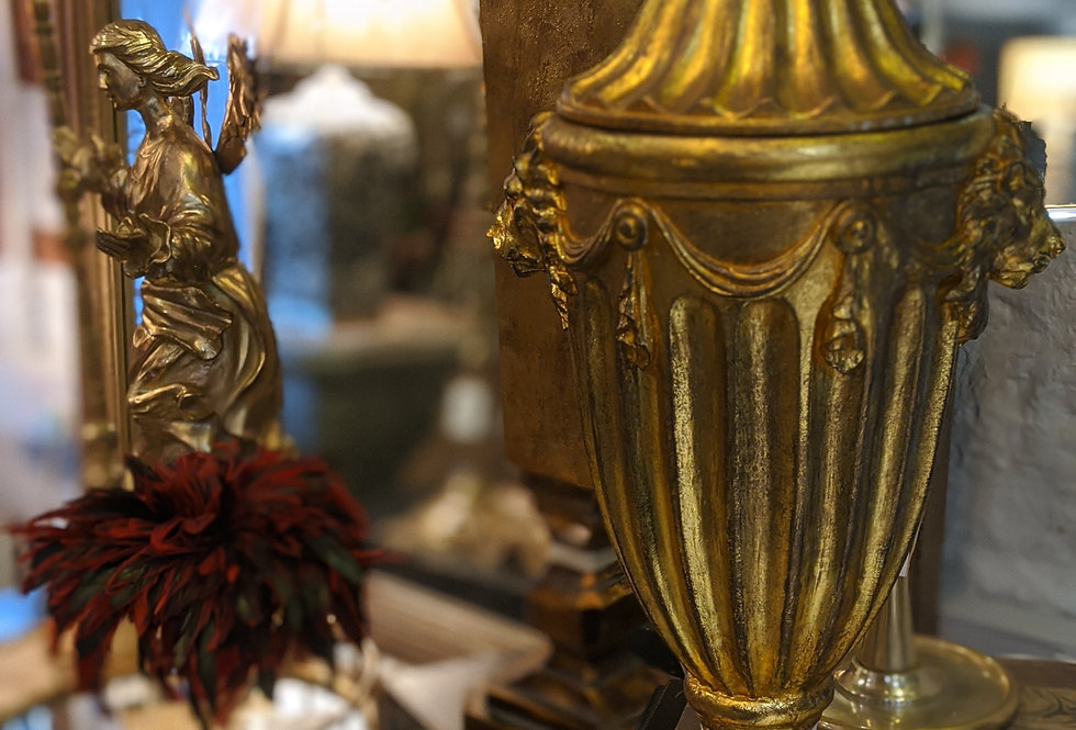 Gold Finial with Lid