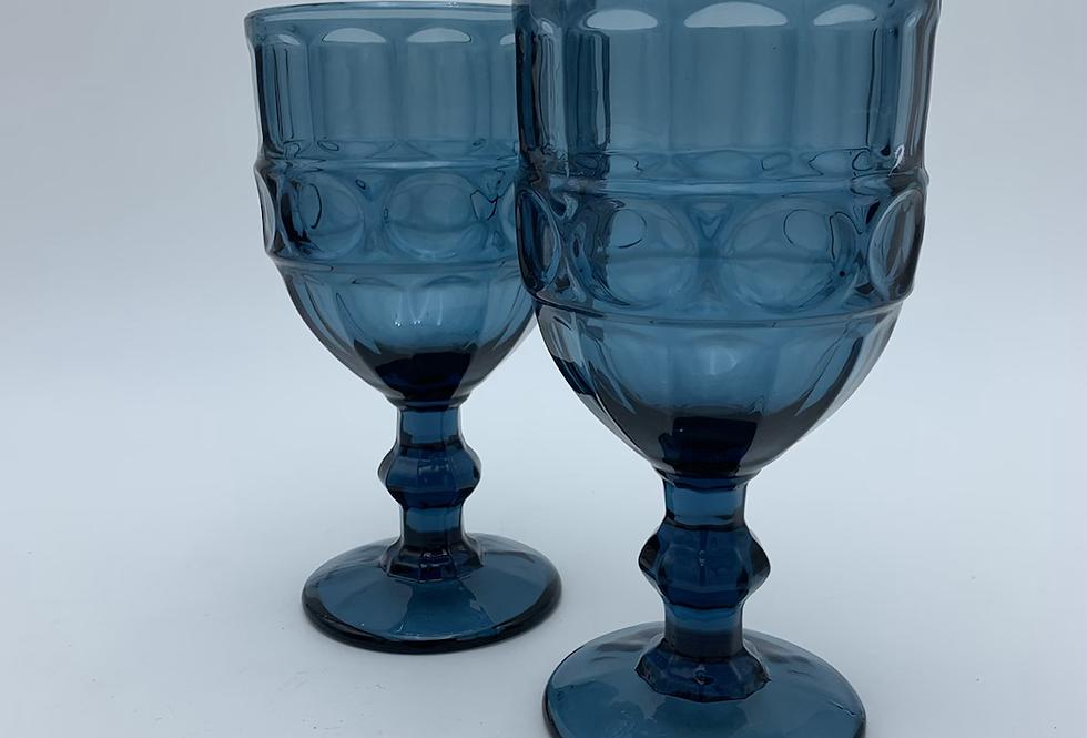 Blue Wine Goblet