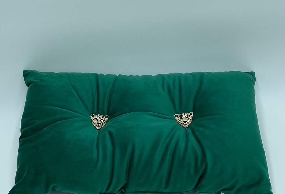 Green Panther Cushion