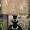 Thumbnail: Dark Glass Lamp With Shade