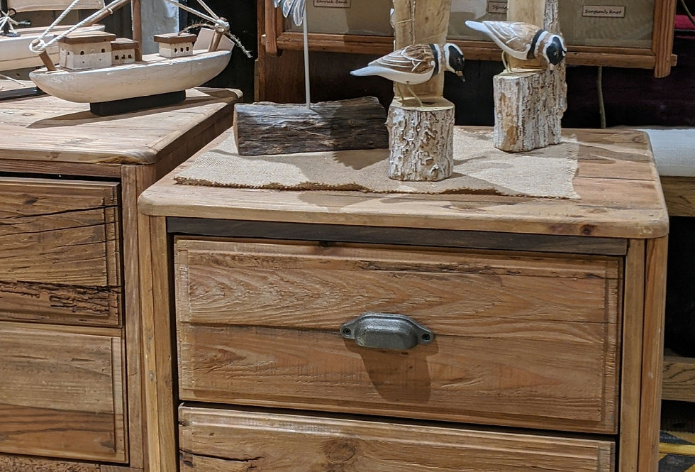 Wooden 2 Drawer Lamp Table