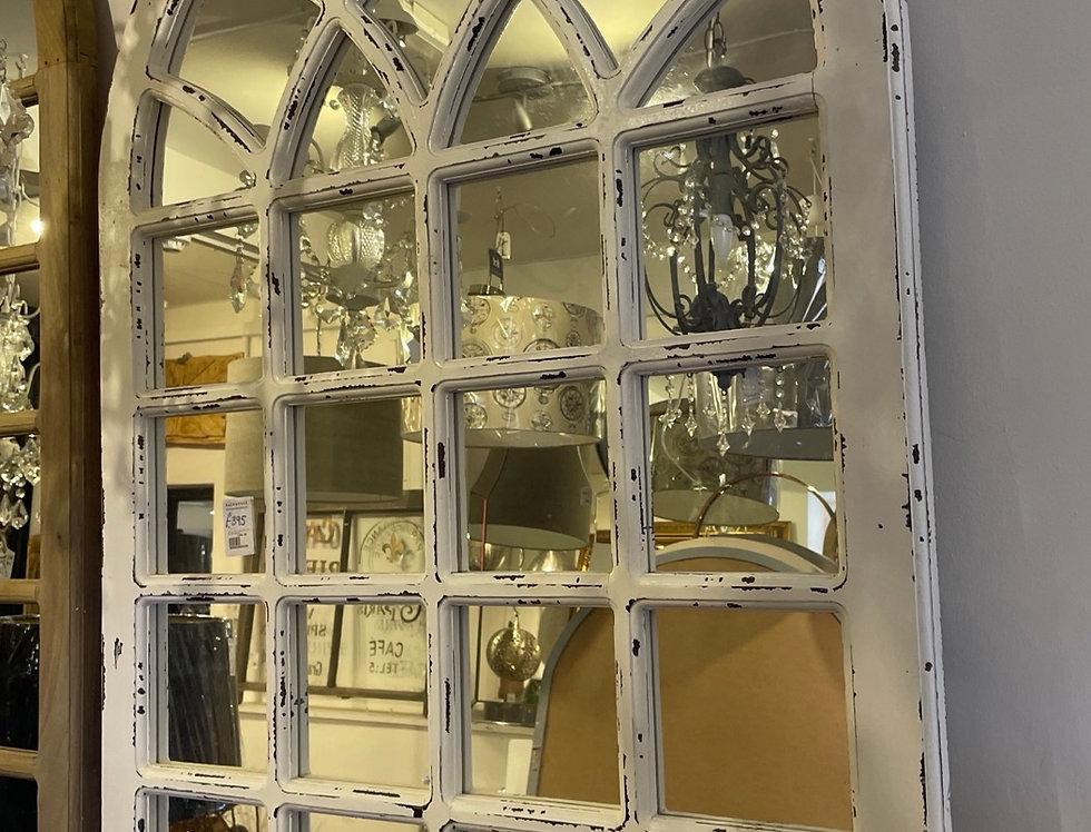 White Georgian Mirror