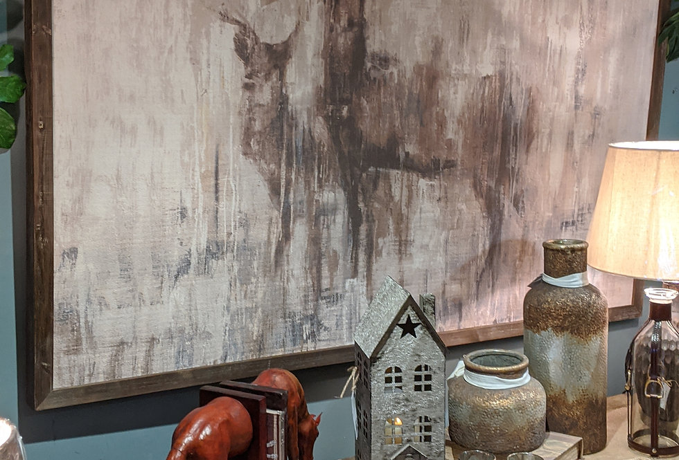 Stag In The Wilderness Art