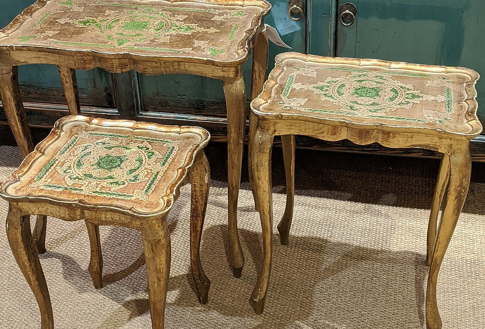 Distressed Nest of Tables
