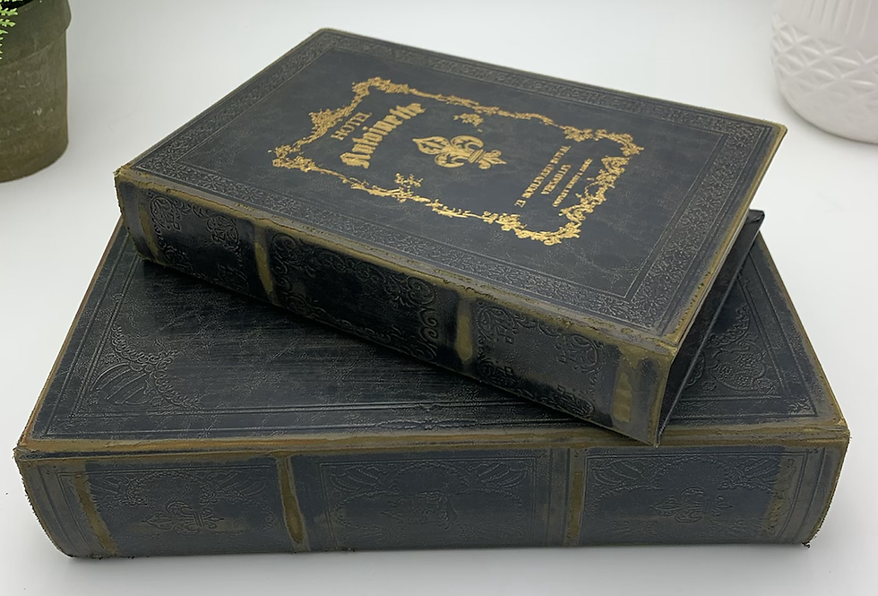 Antique Black Book Box