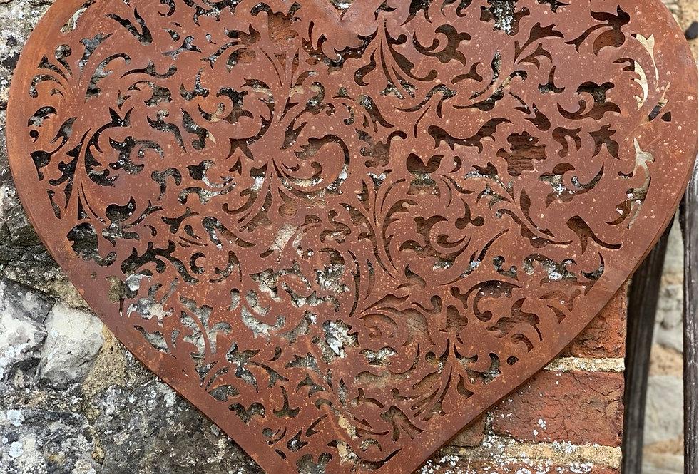 Heart Rusty Wall Plaque