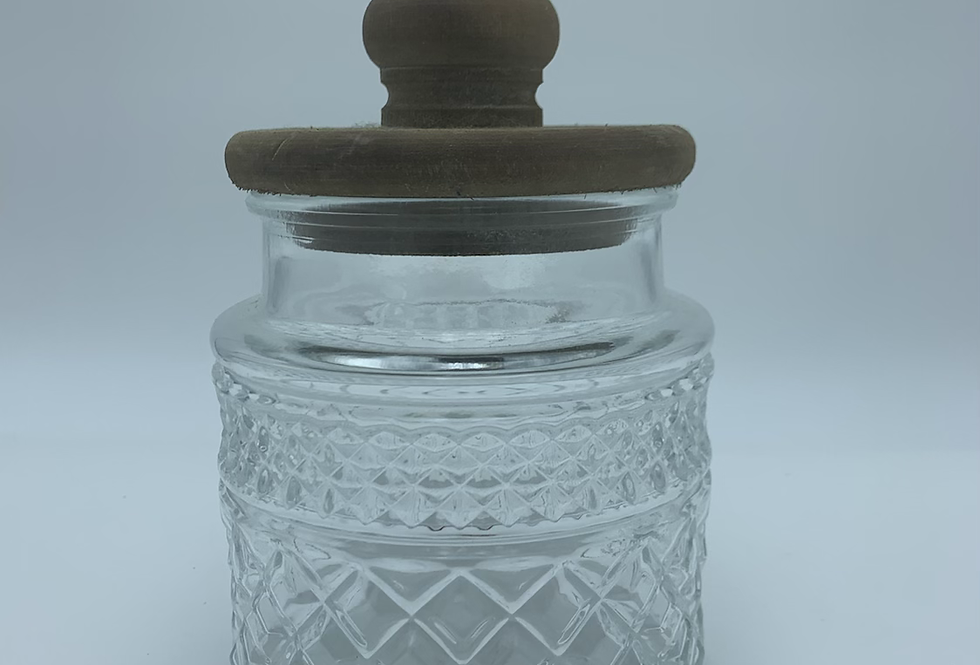 Jar With Wood Lid (Small)